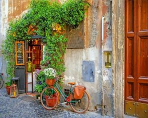 trastevere rome italy paint by number