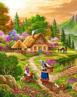 Rural Women paint by numbers