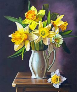 Flowers Vase paint by numbers