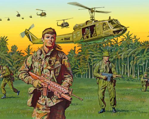 vietnam war art paint by numbers