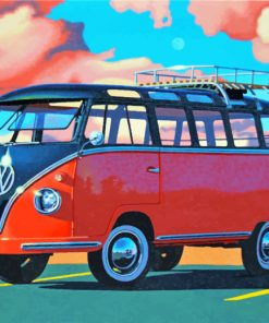 volkswagen bus paint by numbers