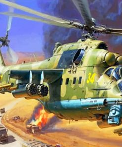 Dangerous Helicopter paint by numbers