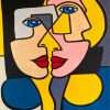 Women Faces Cubist paint by numbers