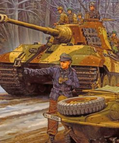 ww2 german tiger tank paint by numbers