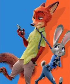 zootopia nick and judy paint by numbers