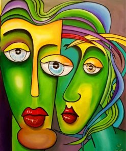 Abstract Faces Paint by numbers