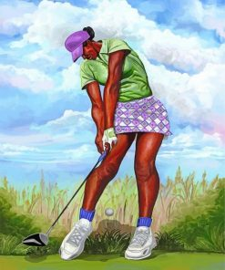 African Golf Player Paint by numbers