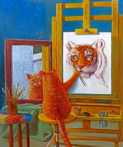 Artist Cat paint by numbers
