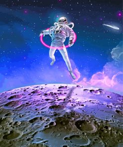 Astronaute-Art-paint-by-numbers