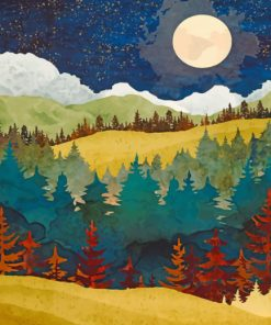 Autumn Forest Art paint by numbers