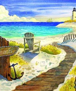 Beach Boardwalk Paint by numbers