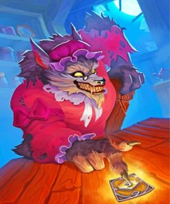 Big Bad Wolf Paint by numbers