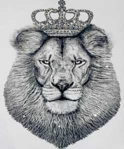Black And White Lion King Paint by numbers