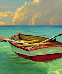Boat On Water paint by numbers