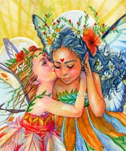 Butterfly Fairies Paint by numbers