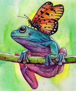 Butterfly On Frog Paint by numbers
