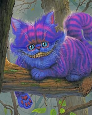 Cheshire Cat paint by number