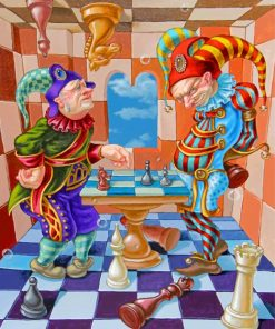 Chess Players Art Paint by numbers