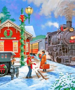 Christmas Homecoming Paint by numbers