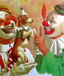 Clowns And Dog Paint by numbers
