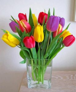 Colorful Tulips Paint by numbers