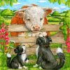 Cow And Dogs Paint by numbers