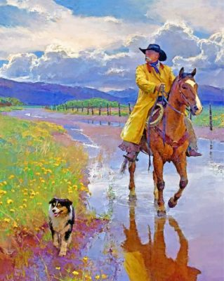 Cowboy And Pet Paint by numbers