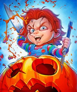 Creepy Chucky Paint by numbers