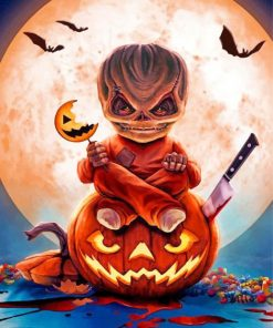 Creepy Sam Trick R Treat Paint by numbers