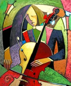 Cubism Violinist paint by numbers