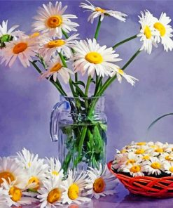 Daisies Vase Paint by numbers