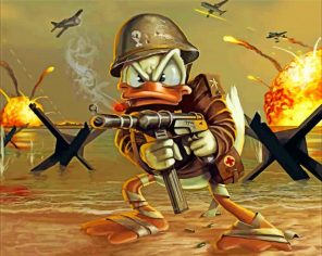 Donald Duck War paint by numbers