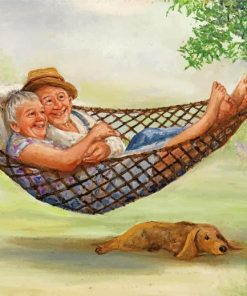 Elderly Couple On Hammock paint by numbers