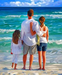 Family In The Beach Paint by numbers