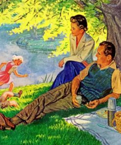 Family Picnic Paint by numbers