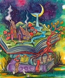 Fantasy Book Land Paint by numbers