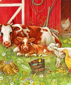 Farm Animals Paint by numbers