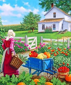 Farmer Woman Paint by numbers