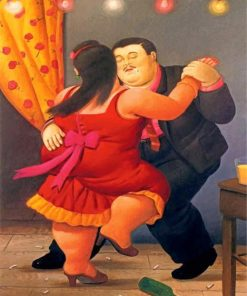 Fat Couple Dancing Paint by numbers