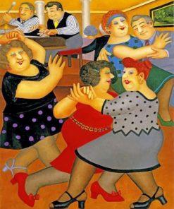 Fat Ladies Dancing paint by numbers