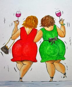 Fat Ladies Friends Paint by numbers