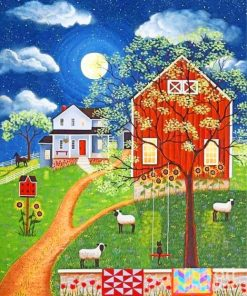 Folk Farm Art Paint by numbers