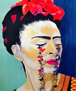 Frida Kahlo Butterflies Paint by numbers