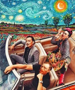 Frida Salvador And Van Gogh Paint by numbers