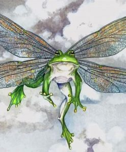 Frog With Wings Paint by numbers
