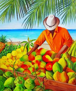 Fruits Seller Paint by numbers