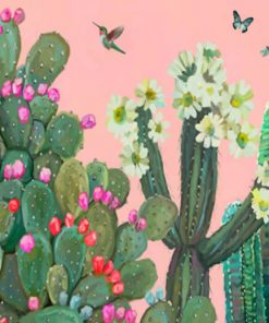 Garden Cactus And Roses Paint by numbers