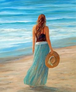 Girl By Sea paint by numbers
