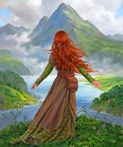 Girl In Nature Paint by numbers
