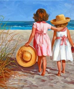 Girls In Beach Paint by numbers